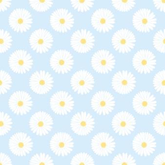 Pequeña margarita blanca de patrones sin fisuras