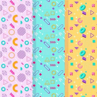 Pequeñas formas de patrones sin fisuras de memphis