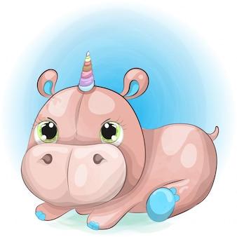 Pequeño bebé hipopótamo