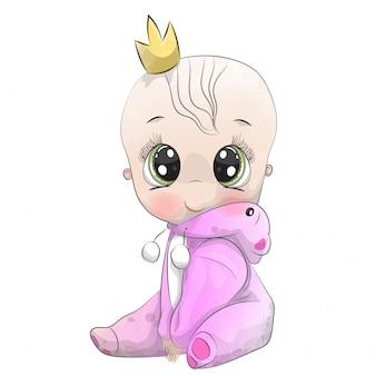 Pequeño bebé niño disfrazado de oso