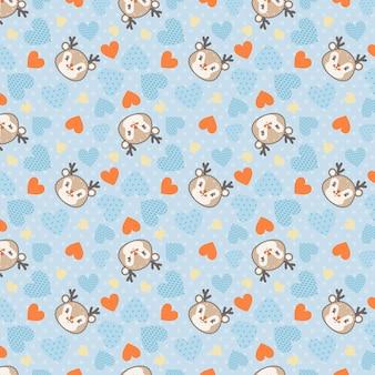 Pequeño ciervo bebé de patrones sin fisuras