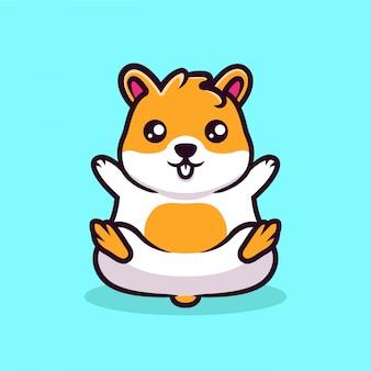 Pequeño diseño lindo de la mascota del hámster