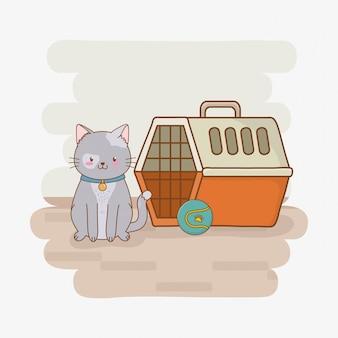 Pequeño personaje lindo de la mascota del gatito