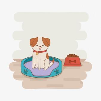 Pequeño personaje de mascota lindo perrito