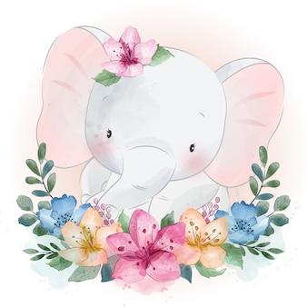 Pequeño retrato lindo del elefante