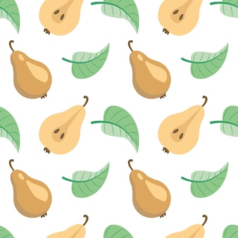 Peras naturaleza frutas patrón