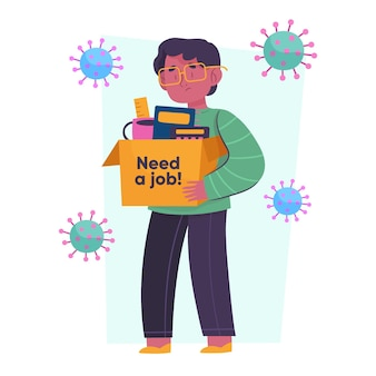 Pérdida de trabajo debido a la crisis del coronavirus