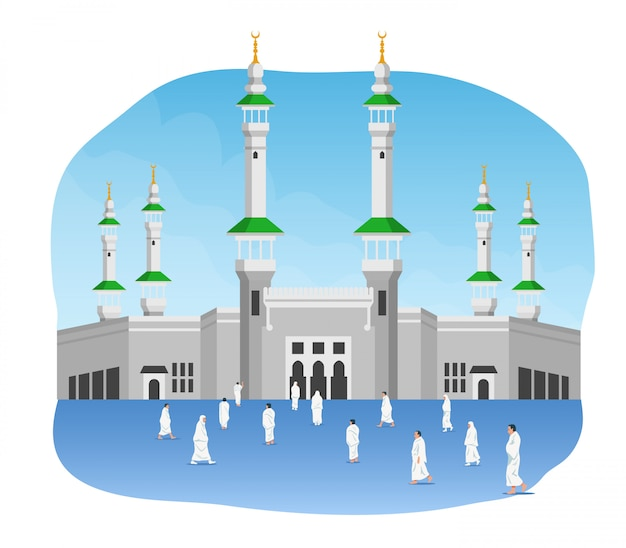 Peregrinación en frente de masjidil al haram