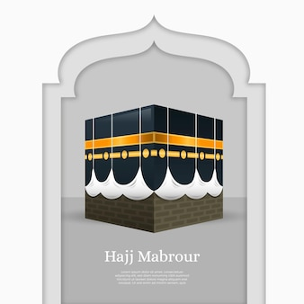 Peregrinación realista de la mezquita islámica de kaaba