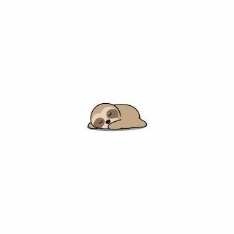 Perezoso perezoso dormir icono de dibujos animados