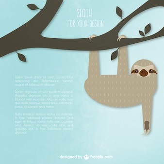 Perezoso que cuelga en un árbol