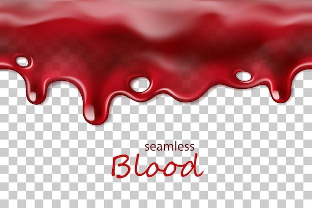 Perfecta goteo de sangre repetible