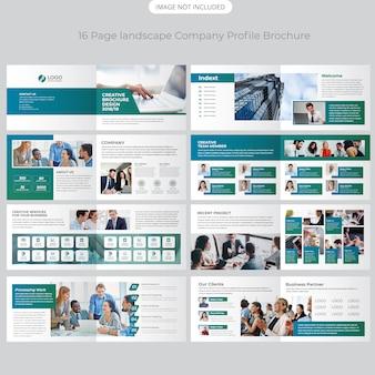 Perfil de la empresa de 16 páginas diseño del perfil