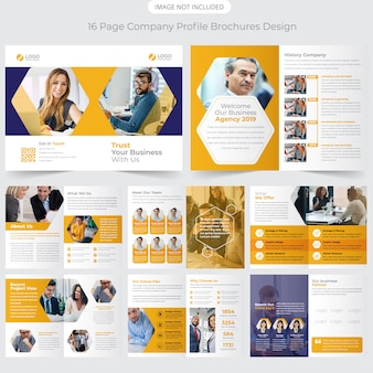 Perfil de la empresa diseño de folletos