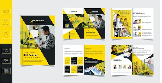 Perfil de la empresa folleto comercial 8 páginas