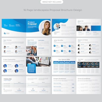 Perfil de la empresa de paisaje folleto de diseño