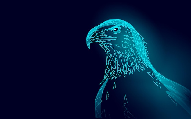 Perfil de pájaro sentado águila. símbolo nacional estadounidense.