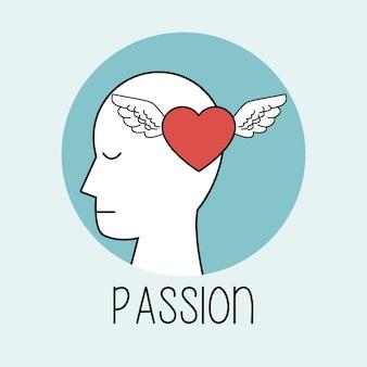 Perfil pasión de la cabeza humana
