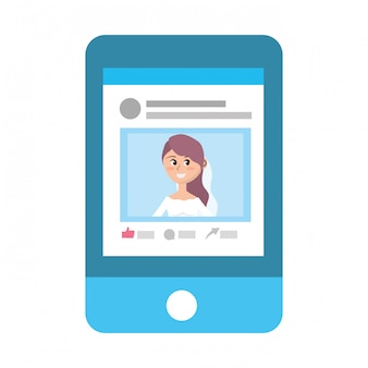Perfil de red social de dibujos animados.