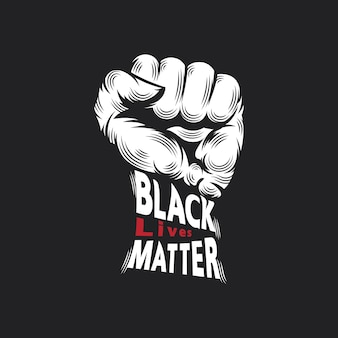 Perforación y error tipográfico, las vidas negras importan el concepto de diseño