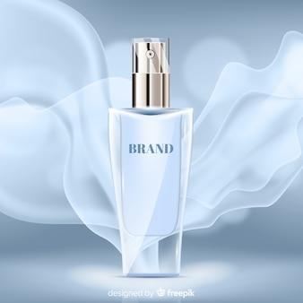 Perfume elegante sobre fondo abstracto