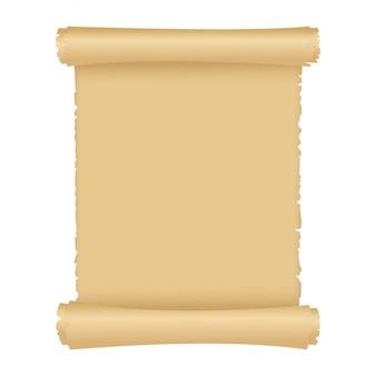 Pergamino o rollo de papel mágico antiguo.