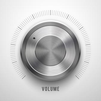Perilla de volumen de tecnología abstracta