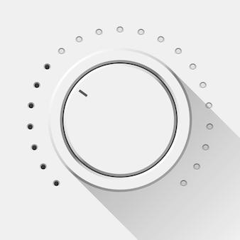 Perilla de volumen de tecnología blanca
