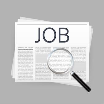 Periódico de búsqueda de empleo. entrevista de reclutamiento