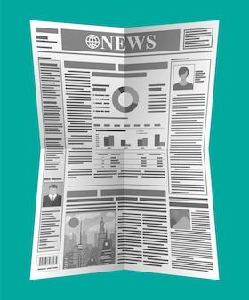 Periódico diario en blanco y negro. revista de noticias.