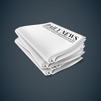 Periódico. ilustración aislada sobre fondo oscuro.