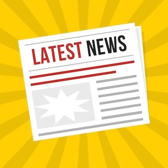 Periódico últimas noticias icono banner publicación entrevista reportaje y símbolo de artículo