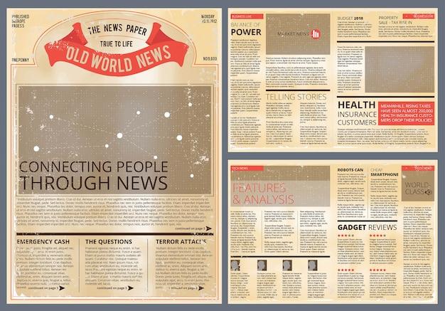 Periódico vintage