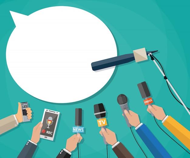 Periodismo, reportaje en vivo, noticias calientes