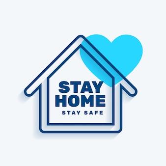 Permanecer en casa permanecer seguro concepto de fondo
