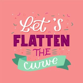 Permite aplanar el diseño de la curva