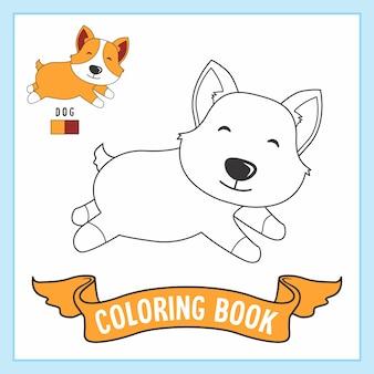 Perro animales libro para colorear