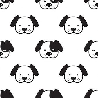 Perro bulldog francés cabeza de patrones sin fisuras