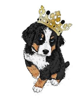 Perro en una corona de oro