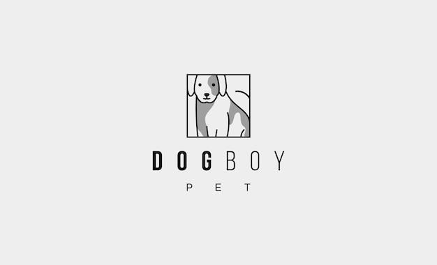 Perro mascota logotipo simple vector diseño icono ilustración