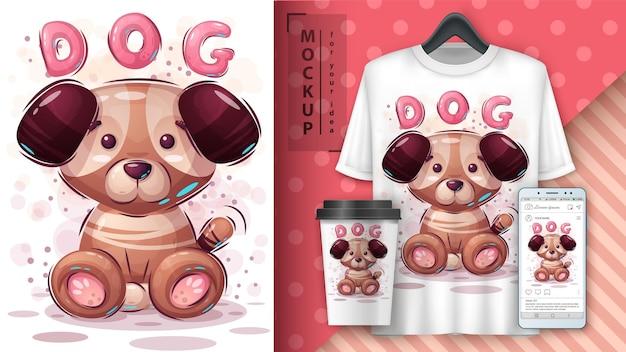 Perro. merchandising de cachorros