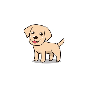 Perro de perrito del labrador retriever lindo del personaje de dibujos animados del vector