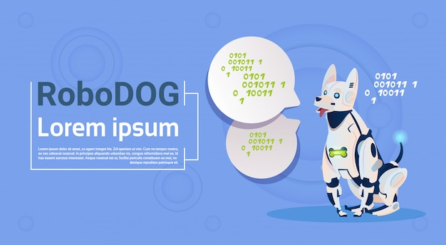 Perro robótico animal doméstico moderno robot moderno mascota inteligencia artificial tecnología