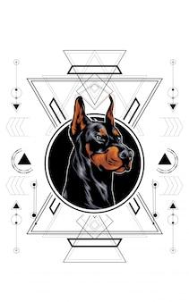 Perro sagrado geometría