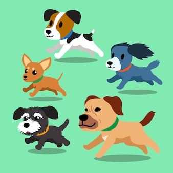 Perros de dibujos animados corriendo