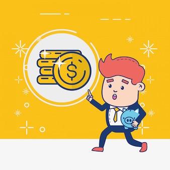 Persona de banca en línea vector gratuito