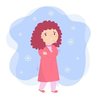 Persona con diseño frío para ilustración