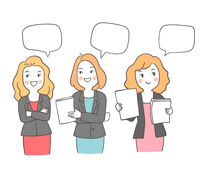 Persona trabajadora de carácter pensando con globo de discurso