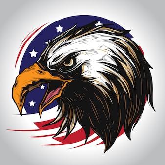 Personaje de águila de america
