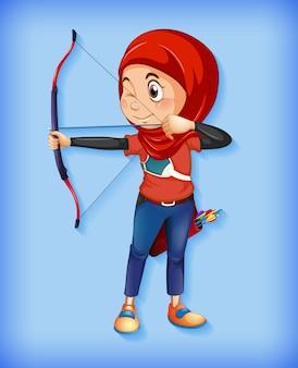 Personaje arquero musulmán femenino